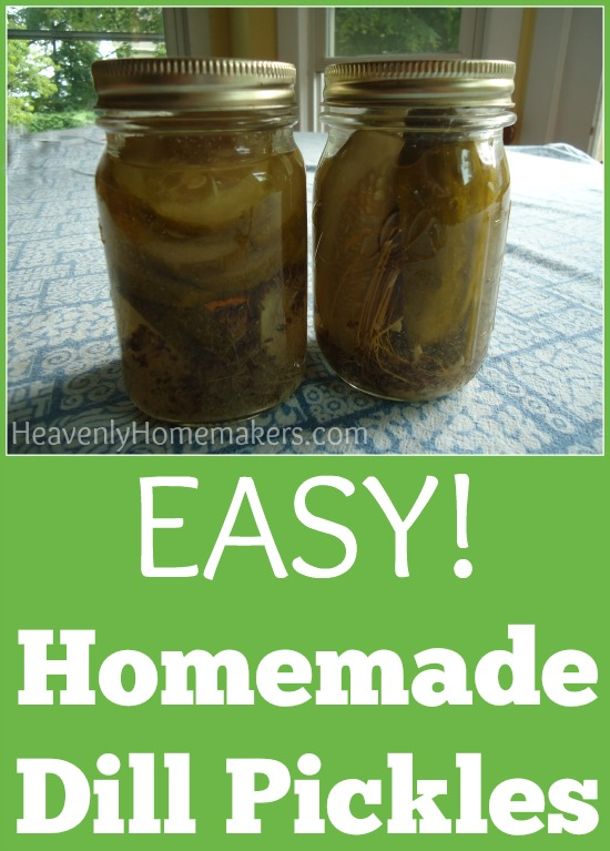 Easy Homemade Dill Pickles