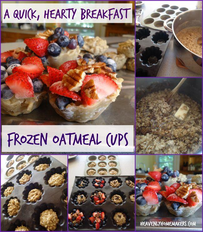 Frozen Oatmeal Cups - a quick, hearty breakfast