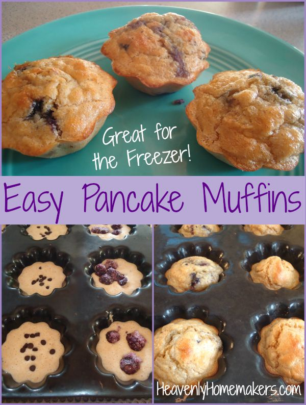 Easy Pancake Muffins - Great for the Freezer