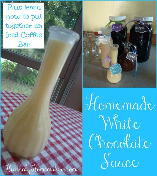 Homemade White Chocolate Sauce for Iced Coffee and Ice Cream