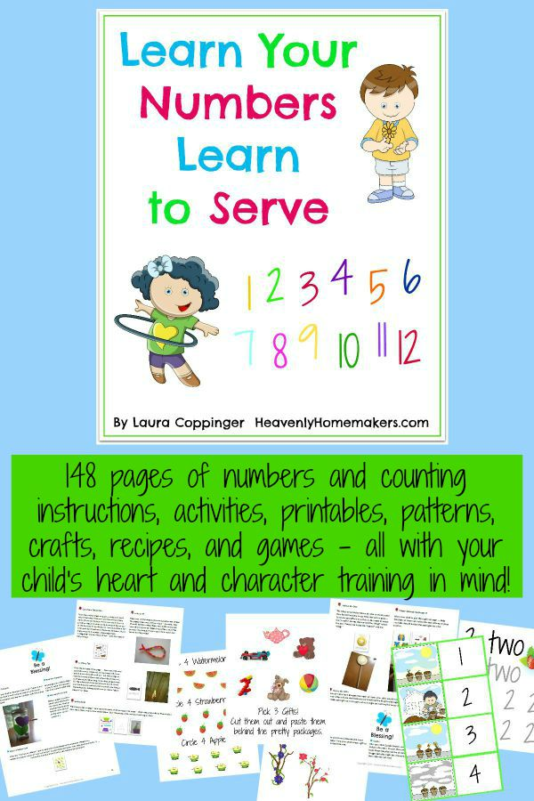 Learn Your Numbers, Learn to Serve Curriculum Kit Samples