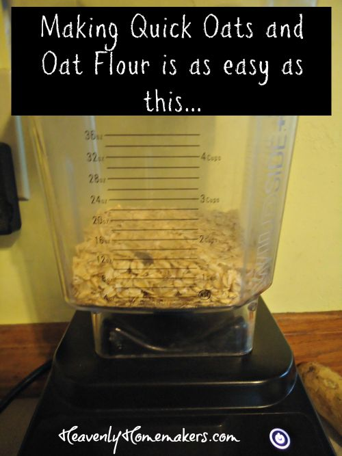 Making Quick Oats and Oat Flour