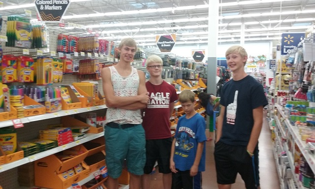 boys school shopping 2015