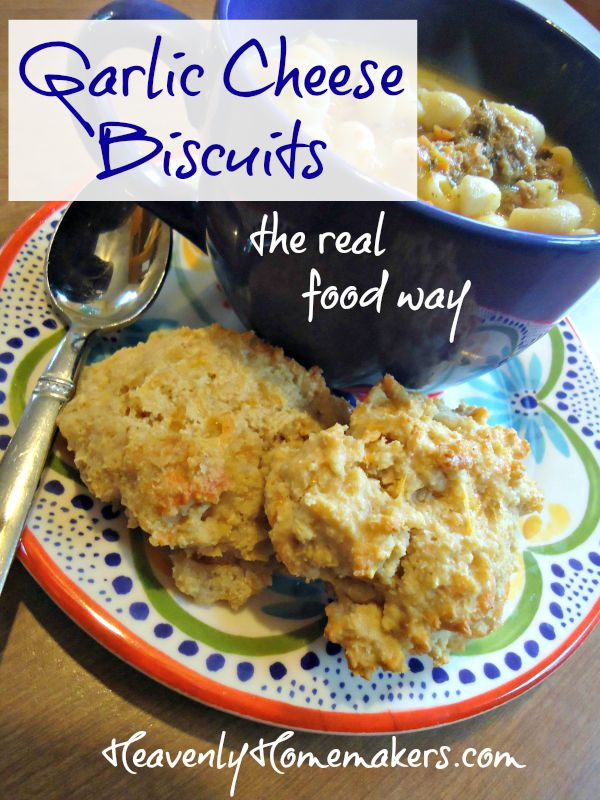 Garlic Cheese Biscuits - the real food way