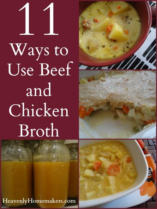 11 Ways to Use Beef and Chicken Broth