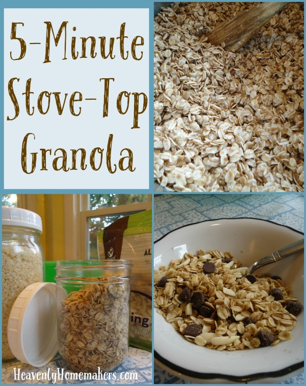 5-Minute Stove-Top Granola