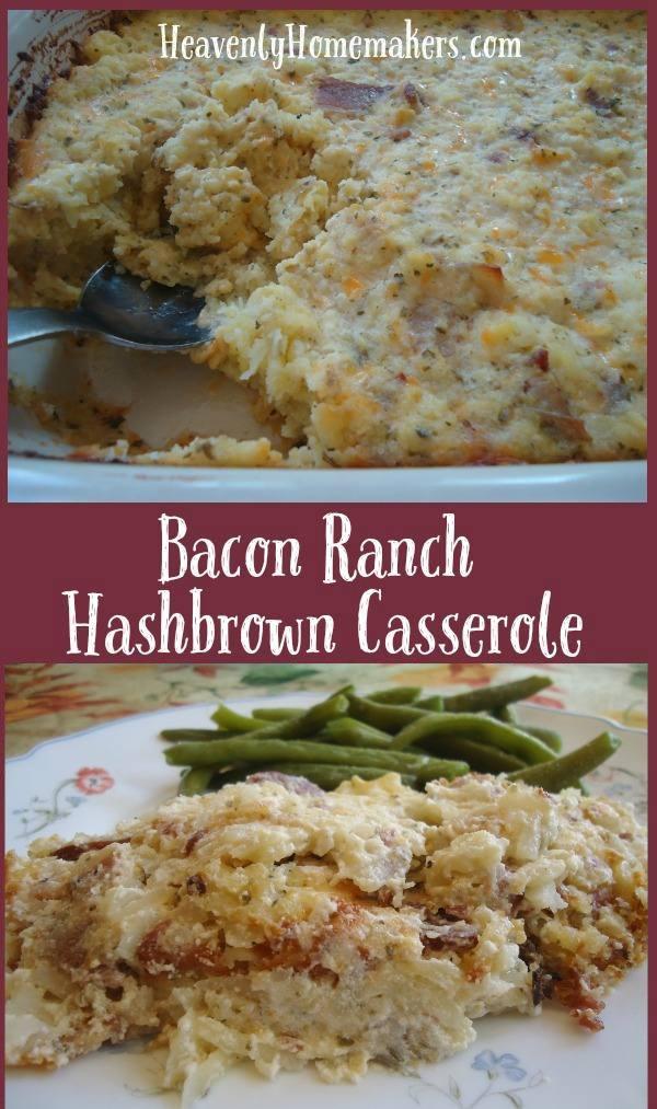 Bacon Ranch Hashbrown Casserole - Easy!