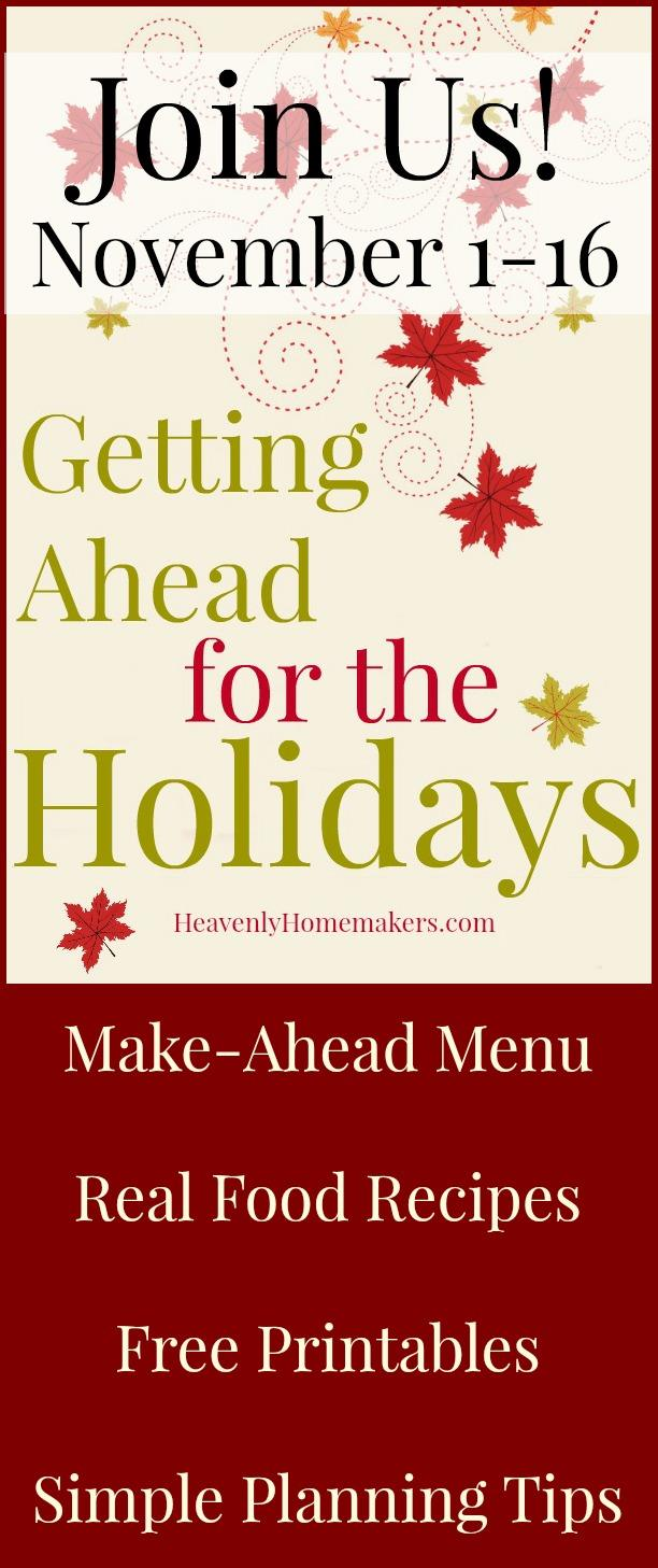 Getting Ahead for the Holidays Invitation