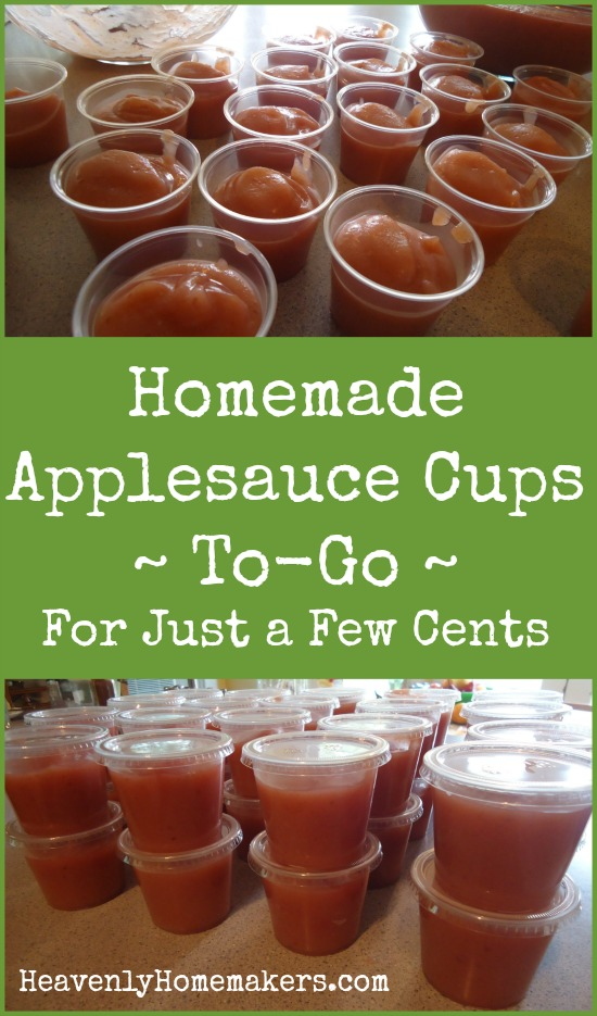 Homemade Applesauce Cups To-Go ~ For Just a Few Cents