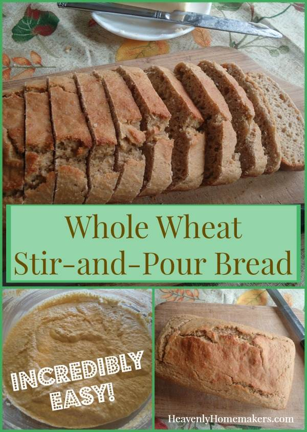 Whole Wheat Stir-and-Pour Bread