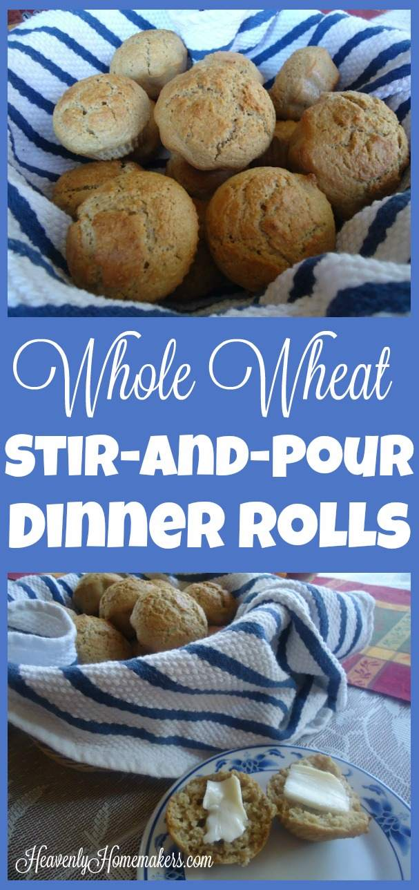 Whole Wheat Stir-and-Pour Dinner Rolls