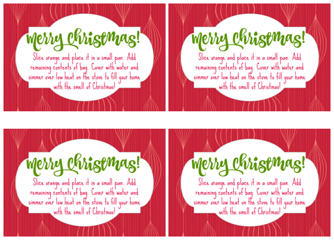 Christmas Potpourri Gift Tags