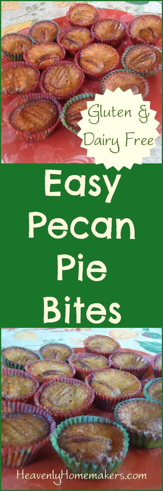 Easy Pecan Pie Bites ~ Naturally Gluten and Dairy Free