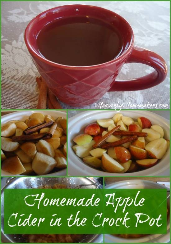 Homemade Apple Cider in the Crock Pot