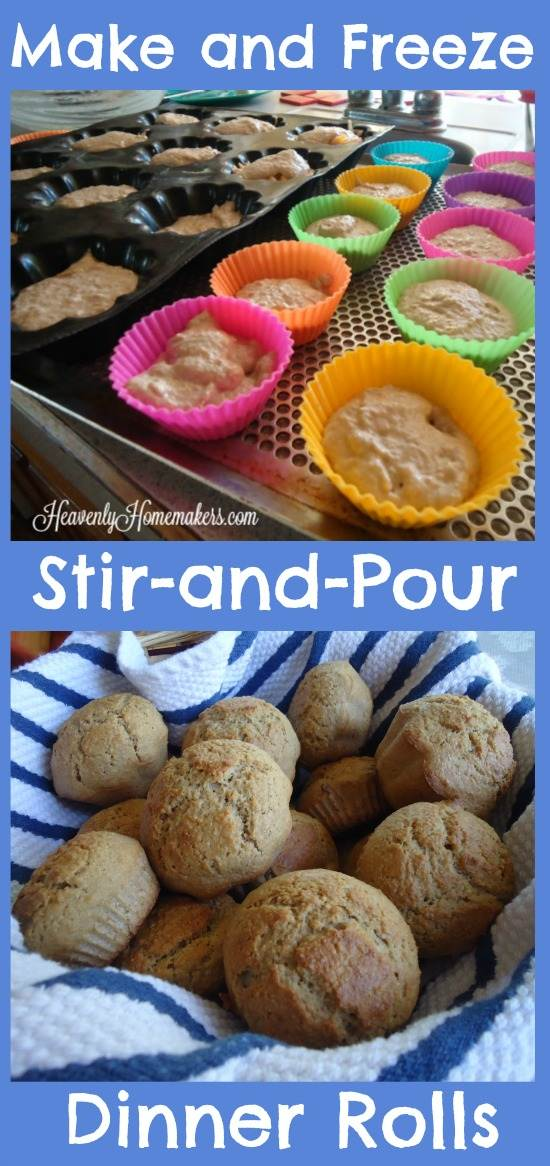 Make and Freeze Stir-and-Pour Dinner Rolls