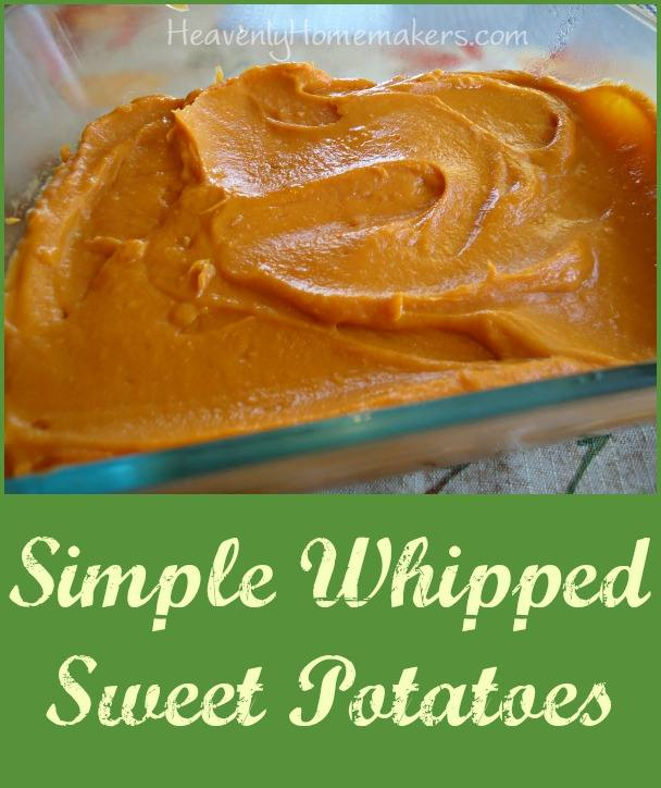 Simple Whipped Sweet Potatoes