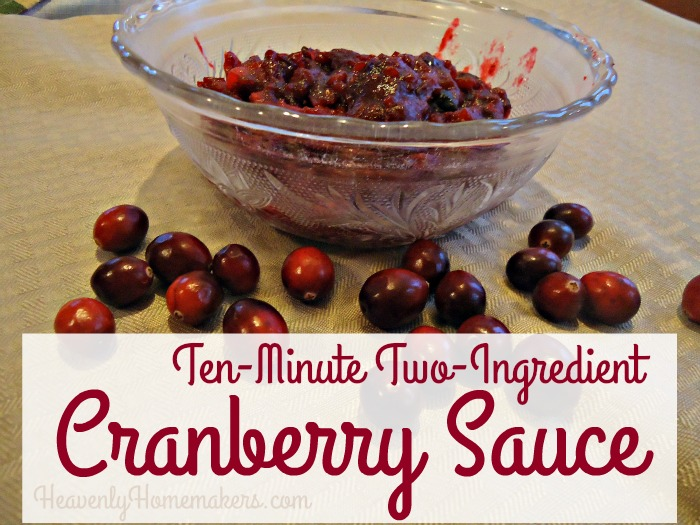 Ten Minute ~ Two Ingredient Cranberry Sauce