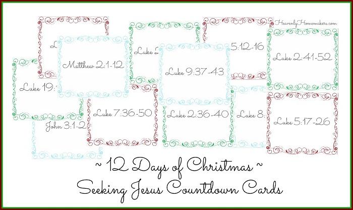 12 Days of Christmas ~ Seeking Jesus Countdown Cards 3