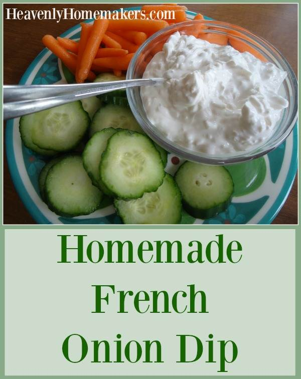 Homemade French Onion Dip - Three Ingredients!