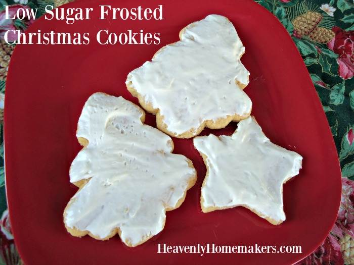 Low Sugar Frosted Sugar Cookies
