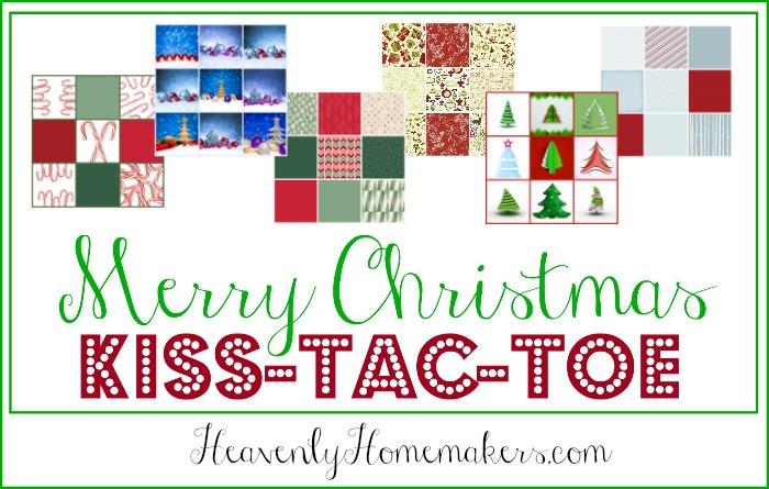 Merry Christmas Kiss-Tac-Toe Free Printable Game