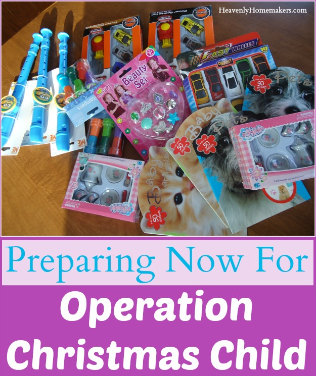 Preparing Now for Operation Christmas Child