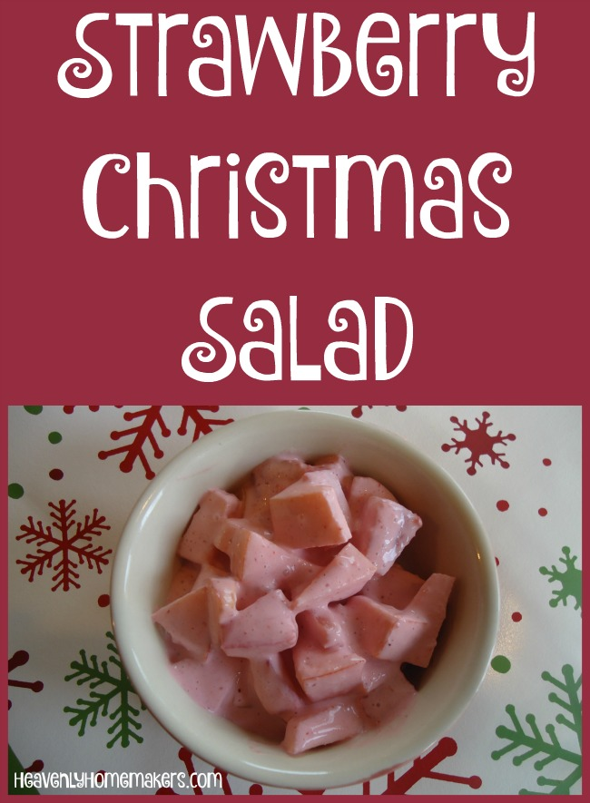 Strawberry Christmas Salad - 4 Real Food Ingredients!