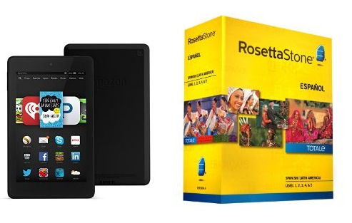 rosetta stone with kindle fire