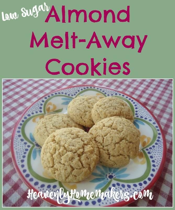 Low Sugar Almond Melt-Away Cookies