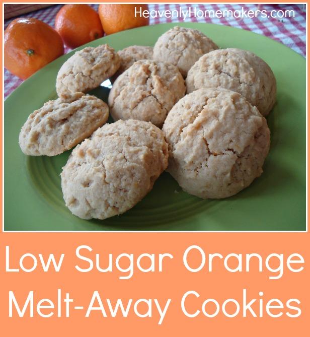 Low Sugar Orange Melt-Away Cookies