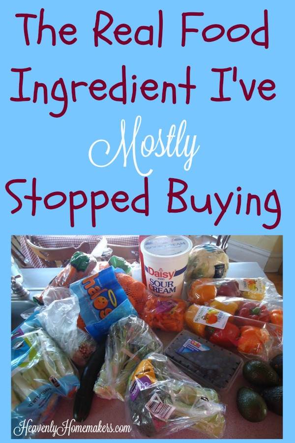 The Real Food Ingredient I've Mostly Stopped Buying