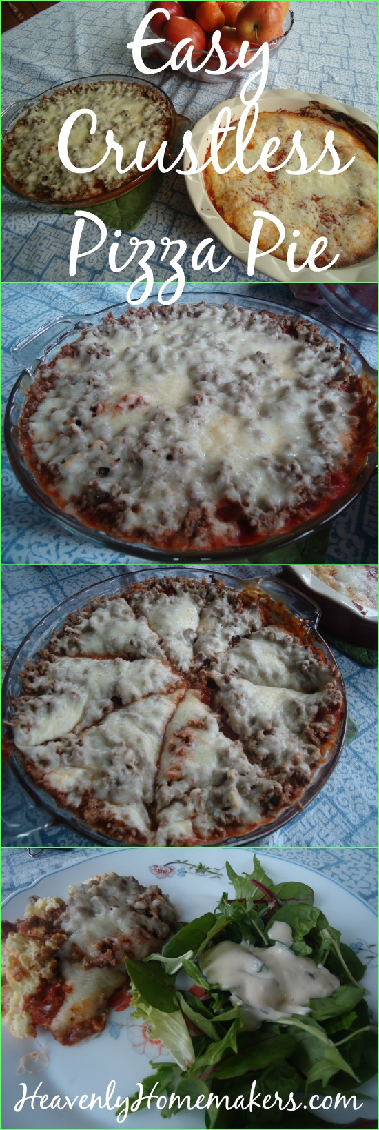 Easy Crustless Pizza Pie