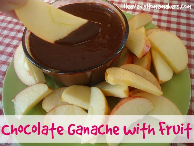 chocolate ganache with fruit