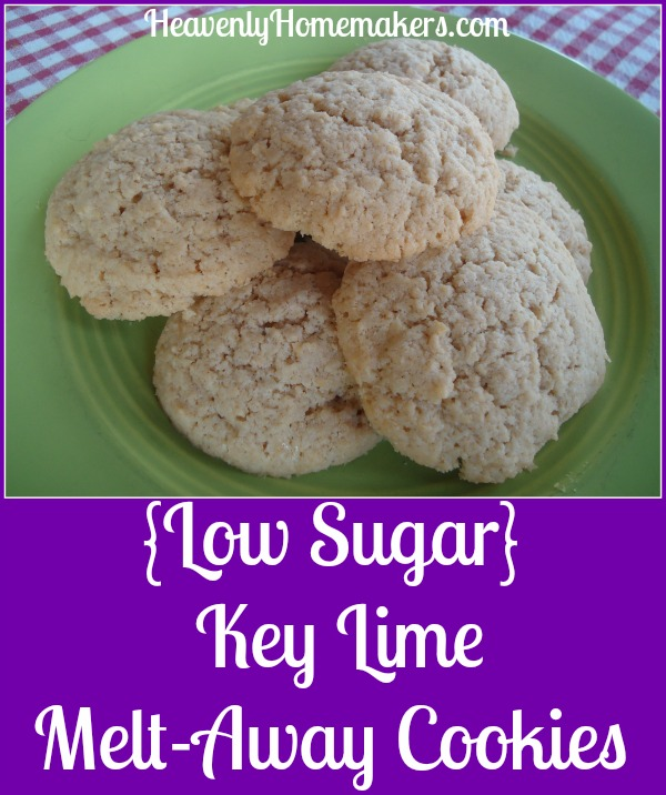 Easy Low Sugar Key Lime Melt-Away Cookies