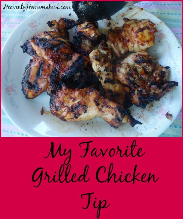 My Favorite Grilled Chicken Tip