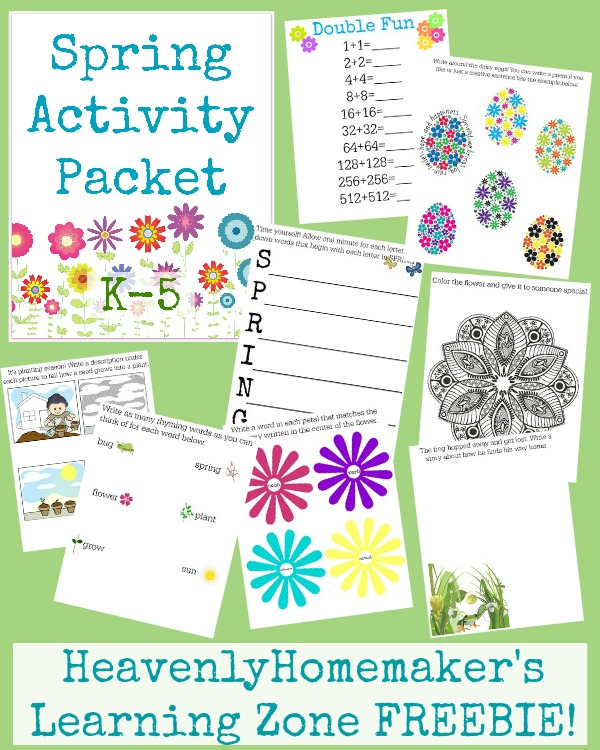 Spring Activity Packet K-5 FREEBIE!