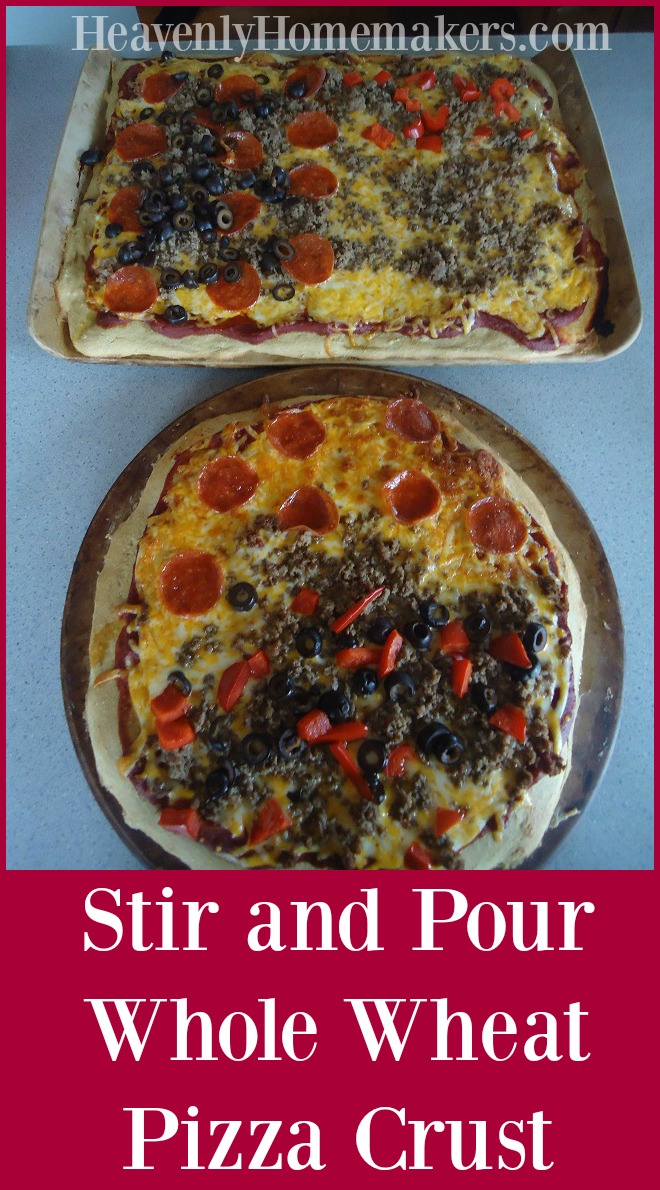 Whole Wheat Stir and Pour Pizza Crust