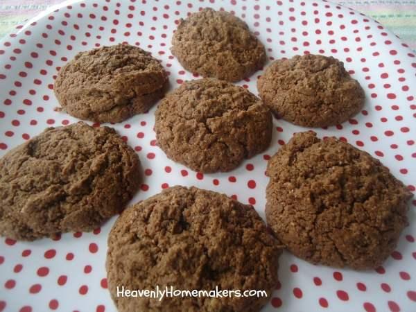 low sugar chocolate cookies
