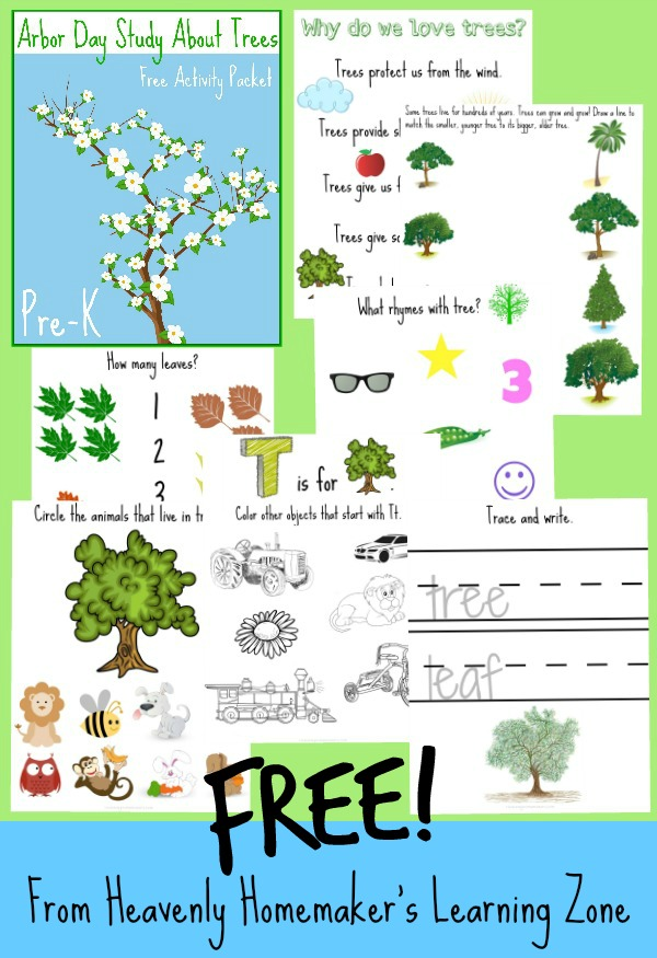 Arbor Day Tree Study Free Activity Packet PreK2