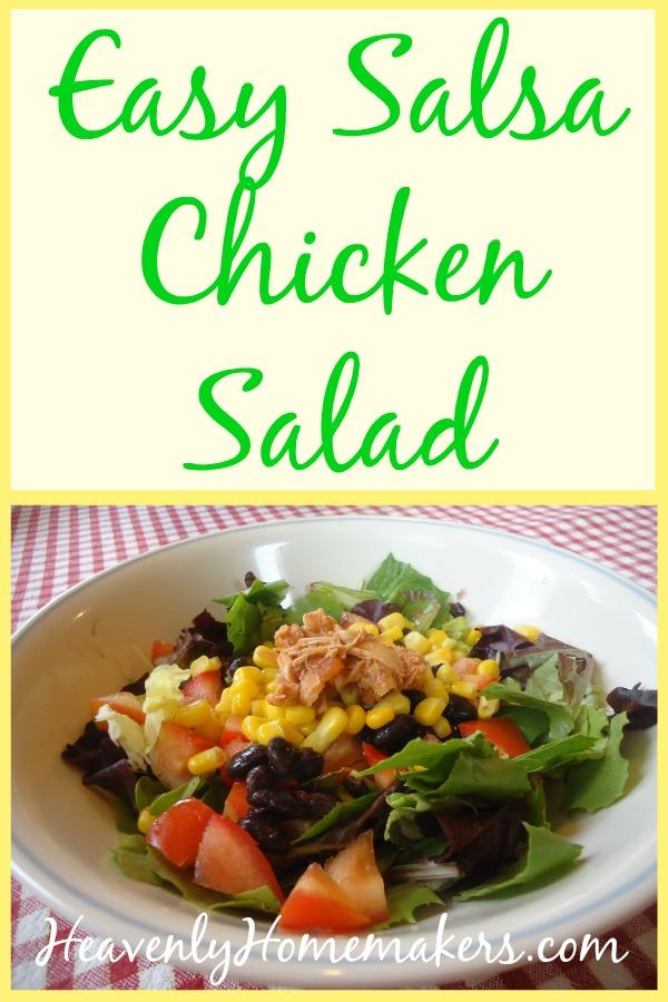 Easy Salsa Chicken Salad