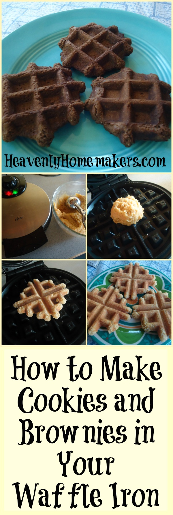 How to Make Cookies and Brownies in Your Waffle Iron