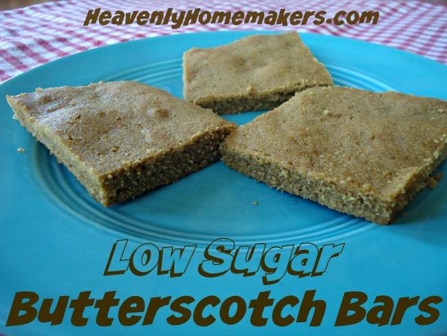 Low Sugar Butterscotch Bars