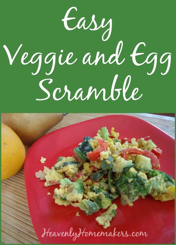 Easy Veggie and Egg Scramble