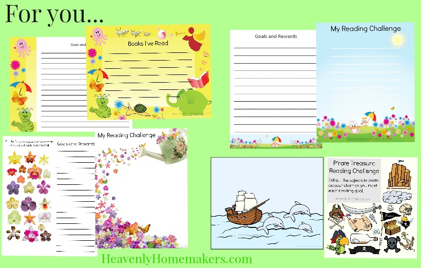 For you, Summer Reading Challenge Printables