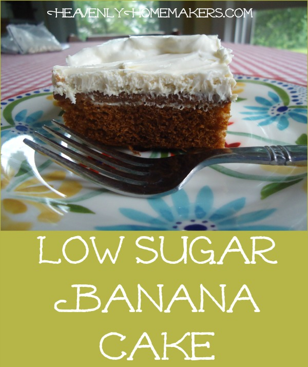 Low Sugar Banana Cake