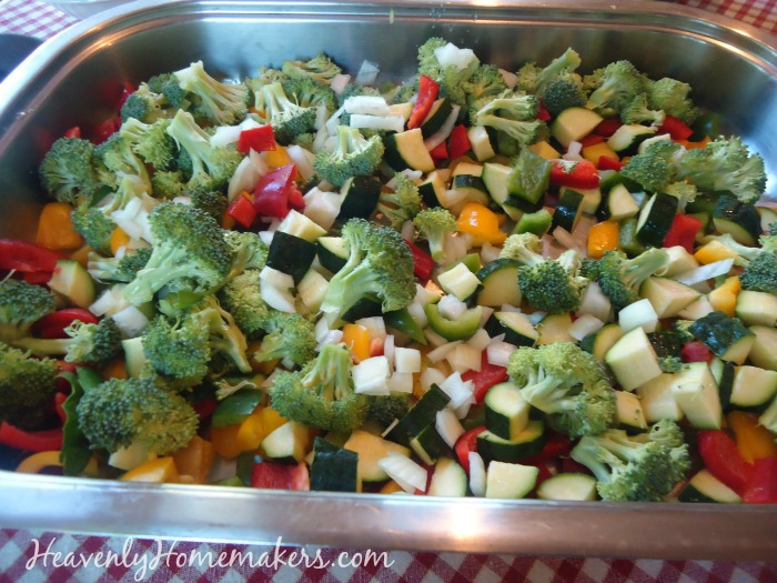 Veggies for veggie scramble