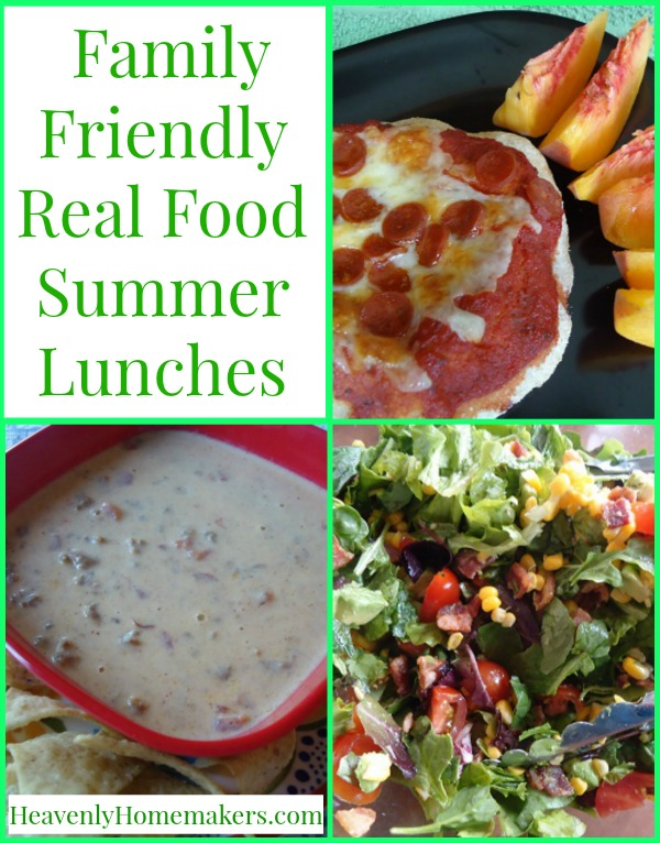 Family Friendly Real Food Summer Lunches