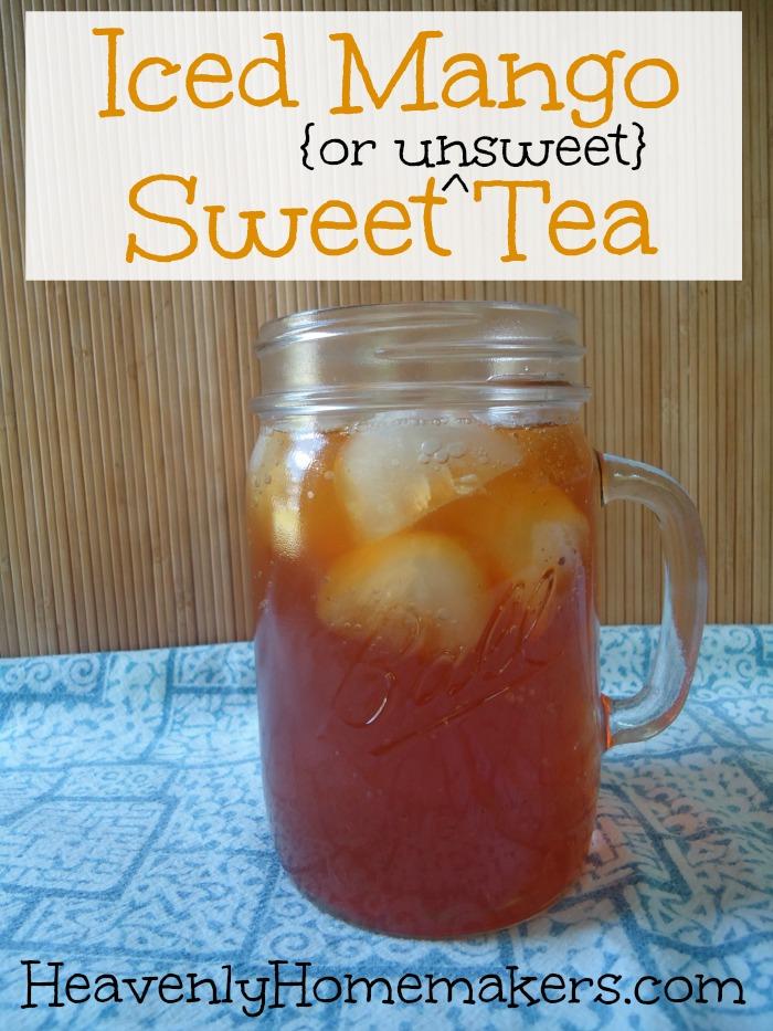 Ice Mango Sweet (or Unsweet) Tea
