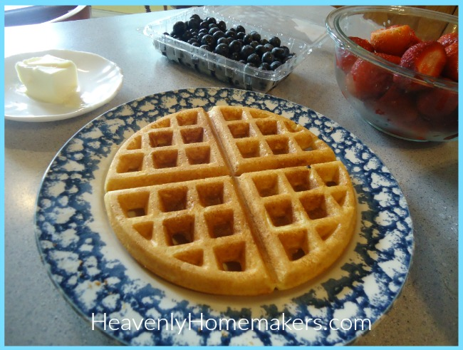 Overnight Whole Wheat Waffles