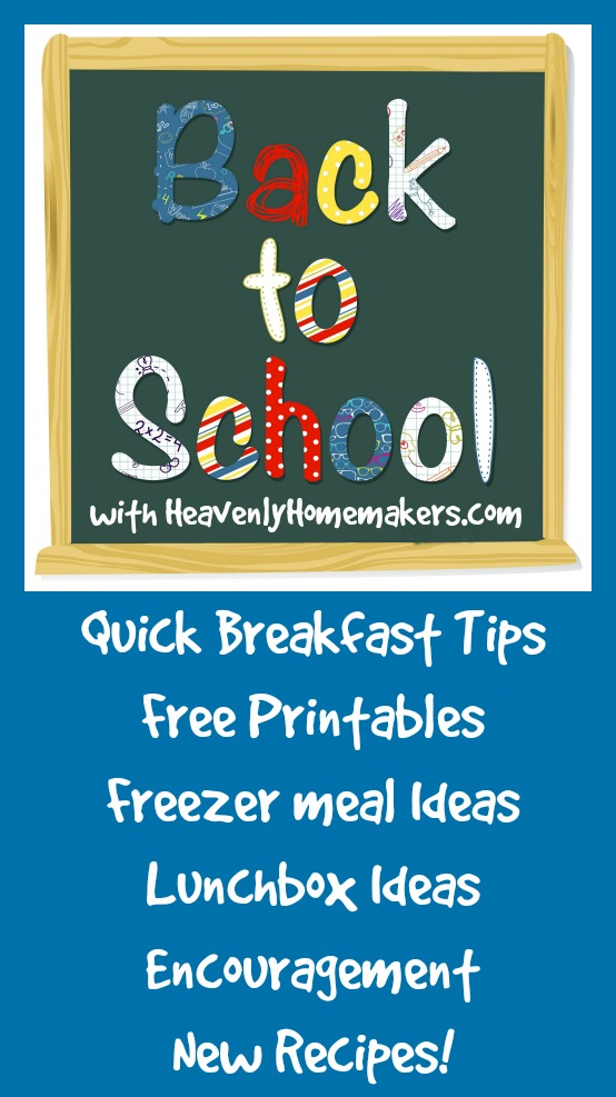 Back to School Freebies, Tips, and Encouragement